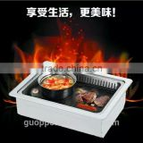 2 in 1 BBQ Korean electric Pan grill steam hot pot and Teppanyaki bbq grill, GEF-2000DCT