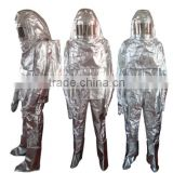 Aluminum Foil One-Piece Set Fire Approach Suit with Scba Bags For High Temperature Workplace