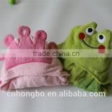 muslin /terry fabric kids bath animal hooded towels pattern wholesale