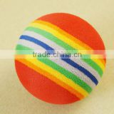 colorful EVA foam ball aerial ball Golf Swing Training Aids Indoor Practice Sponge Foam Rainbow Balls