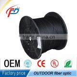 1/2/4 core FTTH outdoor phosphatized steel wire self-supported PVC/LSZH jacket Fiber optic cable