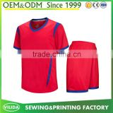 Newest design 100% polyester factory price soccer jersey blank training football uniform