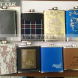 3oz stainless steel hip flask set