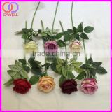 china wholesale long single stem artificial silk rose flower
