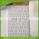 glitter foam eva for gifts toys promotion sticker alphabet letter
