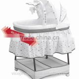 With ASTM cetificate electronic swing music baby cradle