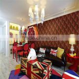 hot sale 3D effect wallpapers/wallpaper/wall paper 3d for home/room/hotel/restaurant decoration