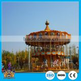 China Gold Amusement Park Equipment Manufacturer! double-deck carousel / luxury merry go round