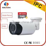 China CE rohs outdoor ip66 4mp ipc auto focus motorized CCTV Surveillance Security varifocal ip camera with memory card