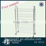 metal wire shelf/shoes rack for retail store