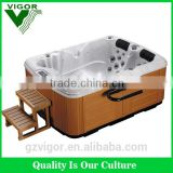 factory air jet massage 2 person outdoor whirlpool spa bathtub for family used