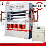 semi-automatic mdf melamine wood door skin hot press machine / mould door skin press machine