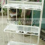indoor outdoor flower plant stand planter, white 3 tier display garage rack, wrought iron folding shelf, display metal book rack