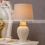 Ceramic Body With Fabric Lampshade Modern Desk Lamp Bedroom Living Room Dining Room Table Lamp