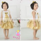 Tree printed sleeveless skirt wholesale short dresses children baby dress cutting
