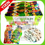 Cola pouch packing fish shape press candy