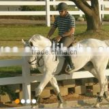 White Durable Widely Used Made In China Wholesale Cheap PVC Horse Fence /PVC cerca del caballo