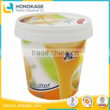 High Quality Food Grade 400g Cheese Container with Small Waterproof Containers Box Food, Transparent Plastic Cup for Butter Stor