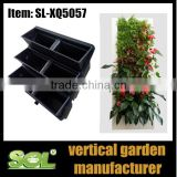 home & garden Vertical Greening garden wall decorative artificial green wall garden pots SL-XQ5057 vertical hydroponic system