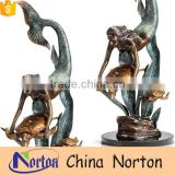 Handmade outdoor bronze water fountain with turtle NTBF-MF008Y