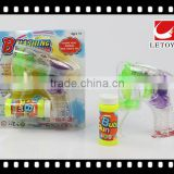 factory supply transparent color bubble gun with 1 bottle bubble water