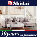 solid wood sofa set, u shape sofa set, mini sofa sets G130A