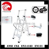 Hot sale household Multifuntional candy color non-slide 4 steps folding telescopic ladder