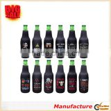 12 Pack Funny Neoprene Insulated Zipper Beer Bottle Sleeve Covers