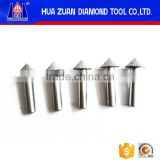 Precision granite cnc milling Tapered Engraving Bits/ CNC stone brazing carving tool router bits for marble