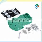 Lawn Aerator Sandals / Aerating Spikes Heavy Duty Spiked Shoes 3 Straps with Zinc Alloy Metal Buckles and Nails for Lawn Care