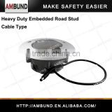 Heavy duty Embedded cat eye LED flashing road stud - Solar and Cable type