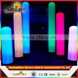 Custom decoration theme decors inflatable lighting cone tube colorful inflatable pillarars and columns for advertising for sale