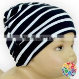 Hot Style Black And White Striped Infants Cotton Caps Toddlers Winter Hats Wholesale Newborn Baby Beanie Cap