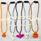 2016 fashion design beads luminous Halloween Day's necklace fantasy Halloween pendant beads necklaces for new promotion items