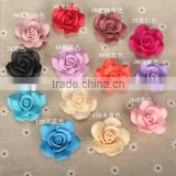 Multicolor solid flower porcelain beads fashion diy Polymer clay beads for 2016 trendy apparel accessories