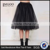 MGOO New Arrival Design Fashion Black Tutu Skirt For Women Voile Bell Ball Gown Skirts 15145B088