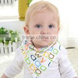2017 New design organic cotton baby bibs bandana bamboo fiber bibs for babies