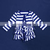 2015 New Style Kids Boutique Cardigan Baby Girl Fall Chidren Cotton Striped Cardigan QL-55
