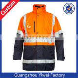 Reflective Striped Flame Resistant Coverall, Waterproof High Visibility Overall Workwear