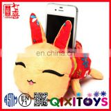 Funny phone holder plush toy cd holder animal stuffed phone holder
