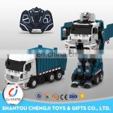 Intelligent rc 2.4G engineering truck vehicle deformation toys