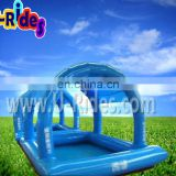 Adult plastic inflatable swimming pool for outdoor