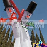 tall and thin inflatable christmas snowman air dancer