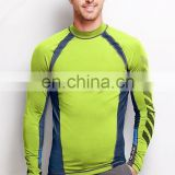 Custom dye sublimation long sleeve rash guard compression shirt
