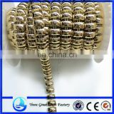 The new plastic electroplating attachment attachment bead bead electroplating gold oblong arc