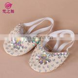 X-8061 Flexible Factory sequins beaded and rhinestone ballet shoes ladies