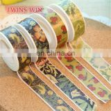 Korean Wholesale Colored Custom Printed Excellent quality cute flower design masking tape paper rolls
