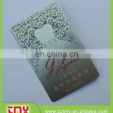 Cheap laser cut sliver or gold business card , latest wedding card designs