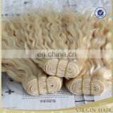 Most popular can be dyed high quality most popular blonde hair weave curly hair remy human hair