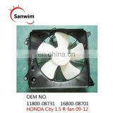 New Cooling Fan Assembly Fits HON-DA C-ity 1.5 R-fan 09-12 OEM 11800-08731 16800-08701